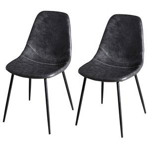 John Dining Chairs, Black, Set of 2