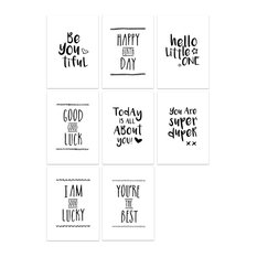 Quotes Greetings Cards, Set of 8