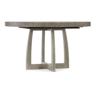 """Affinity 48"""" Round Pedestal Dining Table With 1-18"""" Leaf"""