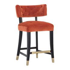 Tatum Counter Stool, Autumn Orange