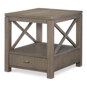 Rachael Ray Home Highline End Table, Greige 6000-507