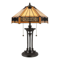 Quoizel   Tiffany 2 Light Table Lamps, Vintage Bronze   Table Lamps