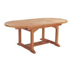 Anderson Teak - Bahama Oval Extension Table w Extra Thick Wood - Unfinished - Outdoor Dining Tables