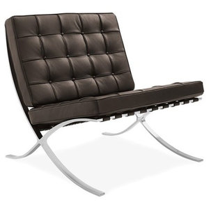 Swell Barcelona Chair Brown Contemporary Armchairs And Accent Evergreenethics Interior Chair Design Evergreenethicsorg