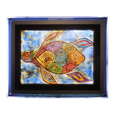 """Turtle of the Seven Seas"", Backlit with LED Light Frame"