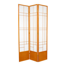 7' Tall Eudes Shoji Screen, Honey, 3 Panels
