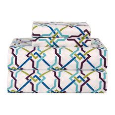Celeste Home Flannel Sheet Set, Lattice, King