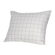 Hästens UK   Hästens Stitch Pillowcase, Standard, Anthracite   Sheet And  Pillowcase Sets