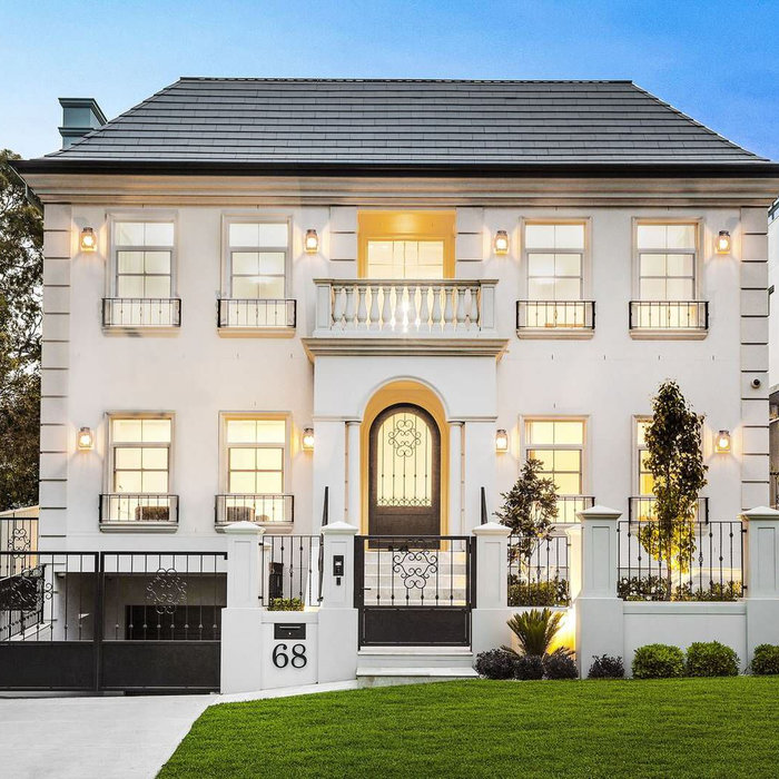 Inspiration for a transitional exterior home remodel in Sydney