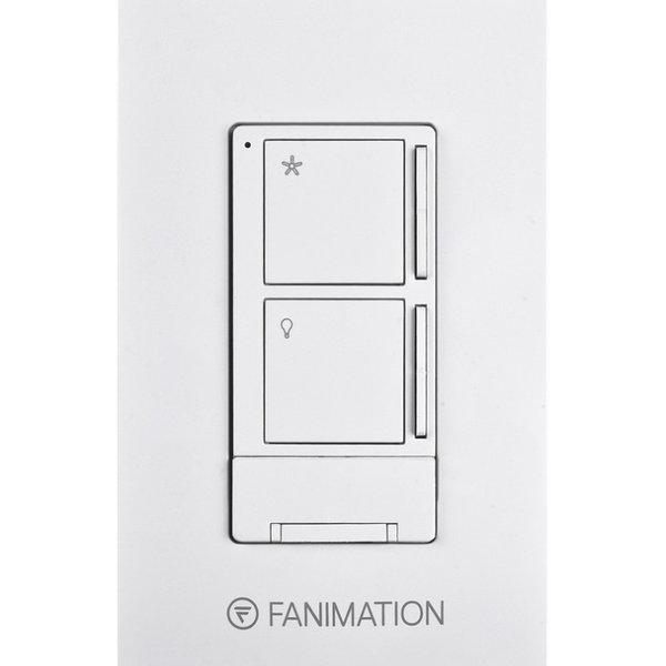 Wall Control w/ Receiver - 3 Fan Speeds & Light - WH by Fanimation WR5