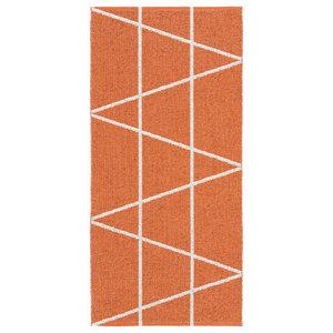 Viggen Woven Vinyl Floor Cloth, Orange, 150x150 cm