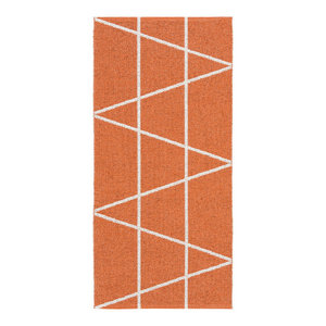 Viggen Woven Vinyl Floor Cloth, Orange, 70x300 cm