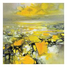 """Yellow Matter 2"" Canvas Print by Scott Naismith, 40x40 cm"