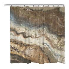 1st Avenue - Laura Home Lava Flow Shower Curtain - Shower Curtains