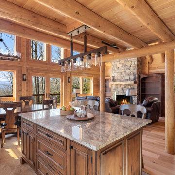 Pisgah Forest Luxury Log Home