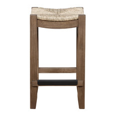 Newport 26-inchH Wood Counter Height Stool With Rush Seat