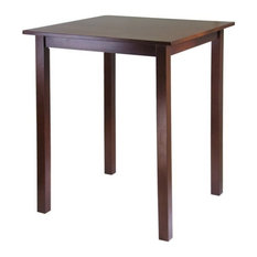 Winsome Parkland High/Pub Square Table In Antique Walnut