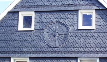 Schieferarbeiten Frontansicht Dach