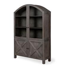 Kalavan wood cabinet arched top