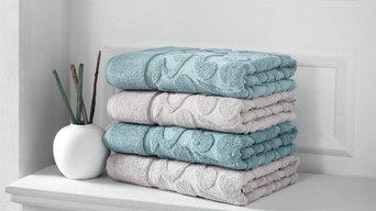 Duchene Sculpted 6-Piece Turkish Towel Set