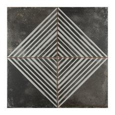 "17.75""x17.75"" Royals Ceramic Floor/Wall Tiles, Rombos"
