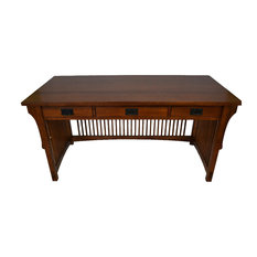mission library table with 3 drawers oak desks and hutches atlantic mission work table