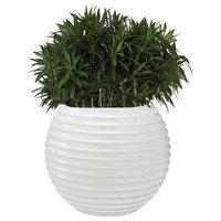 """Dimond Lighting Jaya - 19"""" Bamboo Tuft Planter, Gloss White Finish"""