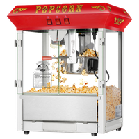 Hot and Fresh Countertop Style Popcorn Machine by Superior Popcorn Co., Red