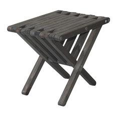 GloDea End Table X36, Wild Black, Modern