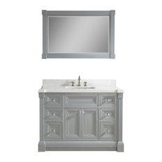 "Art Bathe Avenue 48"" Vanity Set With Solid Surface Quartz Top, Oxford Gray"