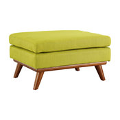 Engage Upholstered Fabric Ottoman, Wheatgrass