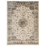 "EORC - Ivory Distressed Bohemian Isabella Medallion Rug, 7'10""x9'10"" - The distressed coloring and look of this traditional rug adds a modern touch to a classic pattern.  Making this beauty and easy fit in any decor style.  The power-loomed construction and soft polypropylenefiber ensure durability while eliminating shedding.  Durable power-loom construction.  Distressed appearance and a vintage look.  Durable polypropylene fiber with no shedding and easy care.  A stunning array of colors create a beautiful pattern.  0.47 inch medium pile height."