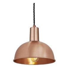 Sleek Dome Pendant - 8 Inch, Copper