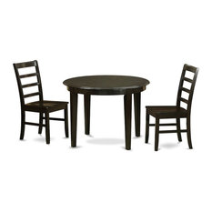 3-Piece Small Kitchen Table And Chairs Set Table And 2 Wood Dining Chairs