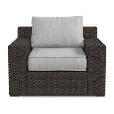 Alta Grande Outdoor Lounge Chair in Beige/Brown P782-820