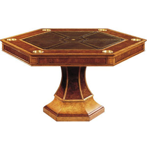 Scarborough House Card Table  Hexagonal Burl
