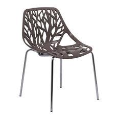 Leisuremod Modern Asbury Dining Chair With Chromed Legs