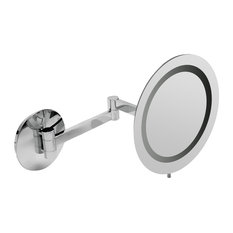 """ALFI Polished Wall Mount 9"""" 5x Magnifying Mirror With Light"""
