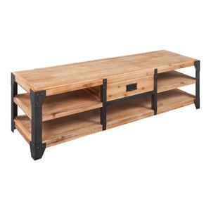 VidaXL Solid Acacia Wood TV Stand, 140x40x45 cm