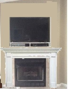 What To Do With Outdated Corner Fireplace