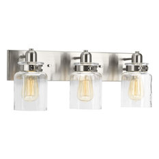 Calhoun Collection 3-Light Bath and Vanity, Brushed Nickel