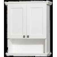 Acclaim Solid Oak Bathroom Wall-Mounted Storage Cabinet, White