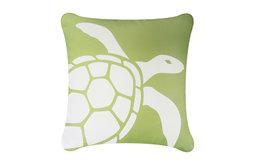Sea Turtle Eco Coastal Throw Pillow Cover, Sea Green