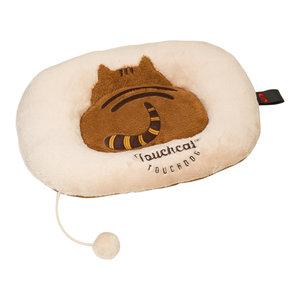 Touchcat 'Kitty-Tails' Fashion Designer Fashion Premium Cat Pet Bed, Beige/Brown