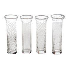 Glasses Bud Vases, Set of 4