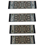 Rug Depot - Black Stair Treads Set of 13 Pcs 26in x 9in With Non Slip Pads - Premium Stair Treads