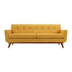 Modway Engage Upholstered Sofa, Citrus