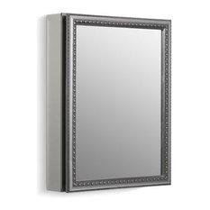 """Kohler 20"""" W X 26"""" H 1-Door Medicine Cabinet w/ Silver Framed Mirrored Door"""