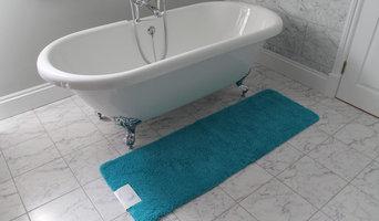 Teal Bath Mat - White/Grey Bathroom