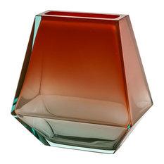 City Crystal Vase Topaz and Aqua